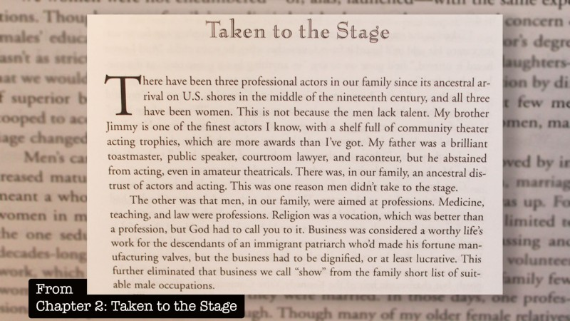 Taken to the stage excerpt